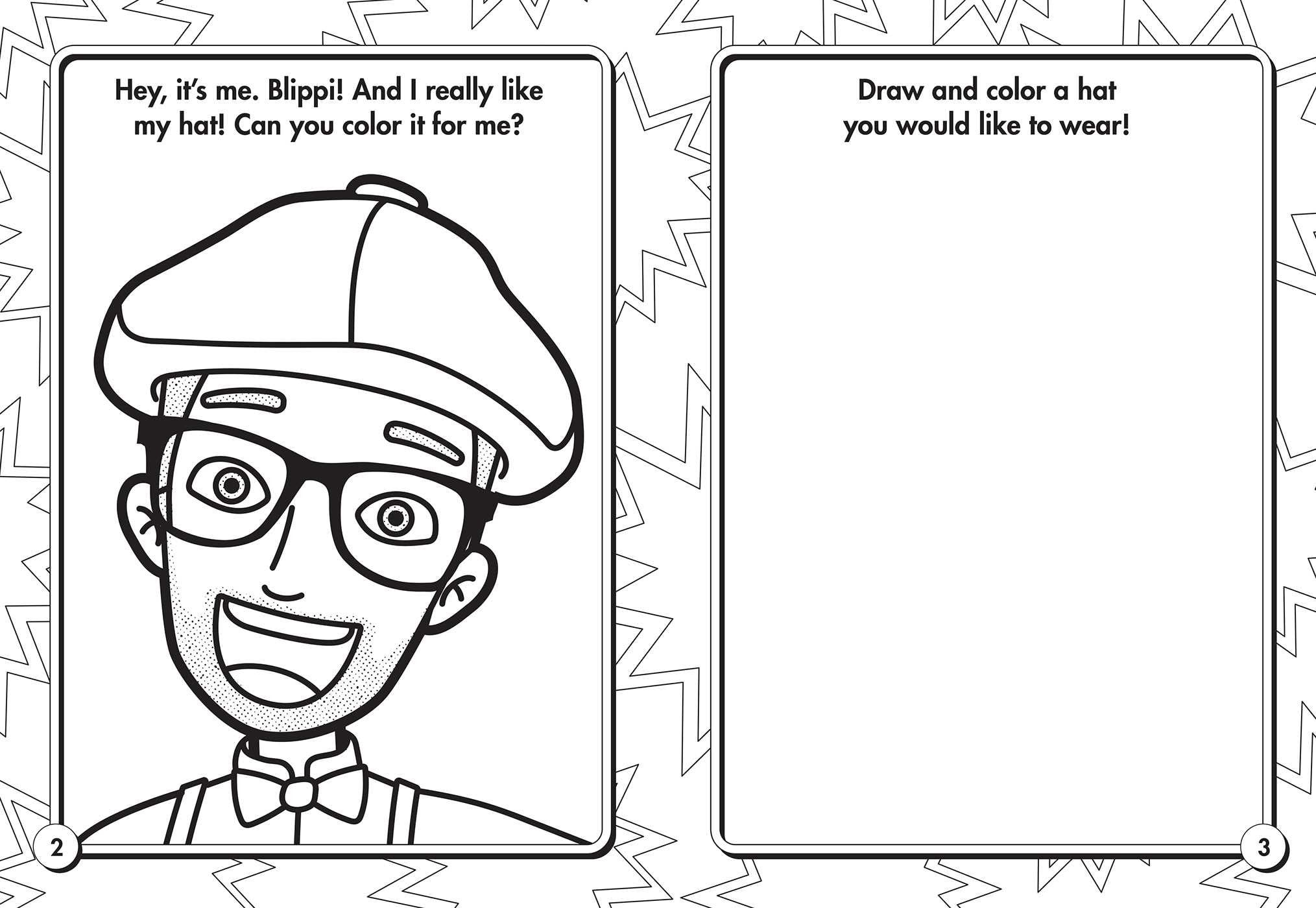 Blippi Coloring Page