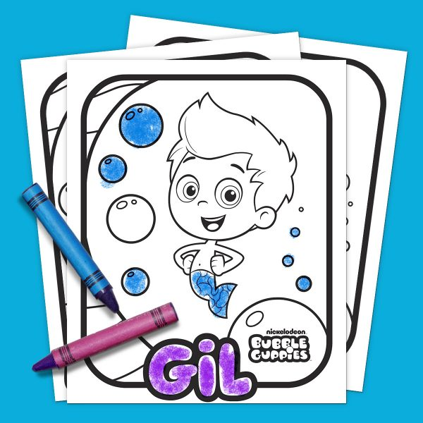 Bubble Guppies-Coloring Book