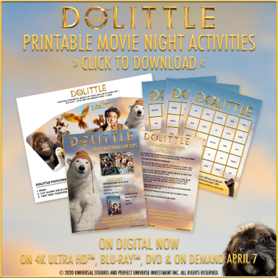 Enjoy Movie Night With DOLITTLE Printable Activities