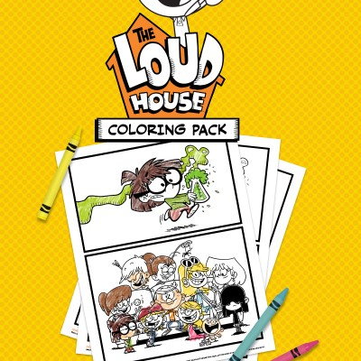 It's Absolute Madness with The Loud House Coloring Pages + DVD