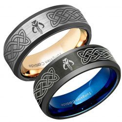 Celtic Mandalorian Boba Fett Tungsten Wedding Band
