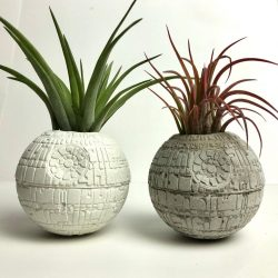 Concrete Star Wars Death Star Air Plant Holder