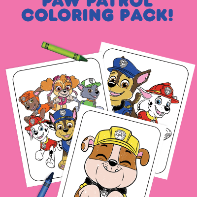 Mighty Pups Charged Up DVD + PAW Patrol Coloring Pages