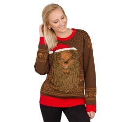 Star Wars Chewbacca Furry Face Ugly Christmas Sweater
