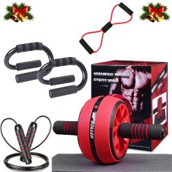 The Review Wire Holiday Gift Guide 2020: Ab Wheel Roller Set for Core Workout