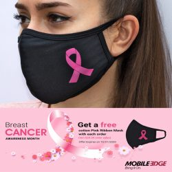 Mobile Edge Free Pink Ribbon Face Masks with Purchase