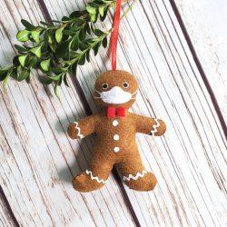 Covid 2020 Gingerbread Ornament