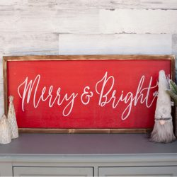 The Review Wire Holiday Gift Guide 2020: Custom Merry & Bright Christmas Wood Sign