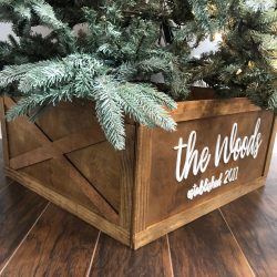 Folding Christmas Tree Box