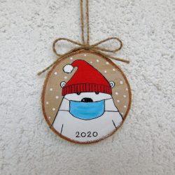 Hand Painted Polar Bear Ornament