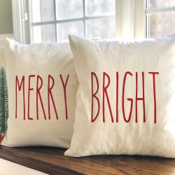 MERRY & BRIGHT Pillow Covers