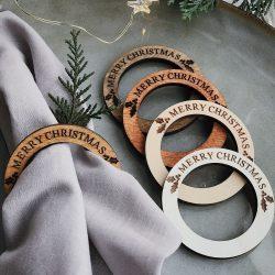 Set of 20 Merry Christmas Napkin Rings