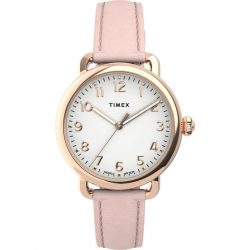 The Review Wire Holiday Gift Guide 2020: Timex Quartz Watch with Rose Leather Strap