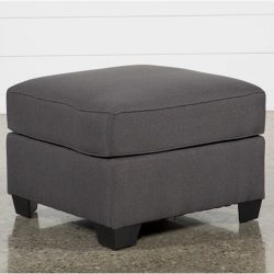 The Review Wire Holiday Gift Guide 2020: Mcdade Graphite Cocktail Ottoman from Living Spaces