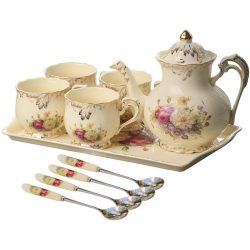 The Review Wire: 27 Bridgerton Gift Ideas Fit for a Queen: Flowering Shrubs Ivory Ceramic Tea Set