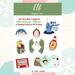 The Review Wire: Unleash Your Inner Elf with these Elf Gift Idea: Elf Sticker Set