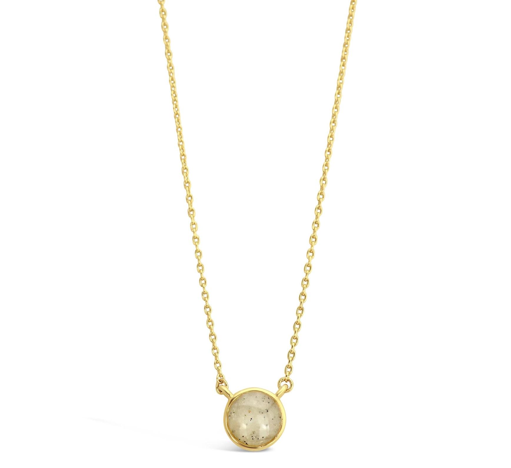 Delicate Dune Round Necklace