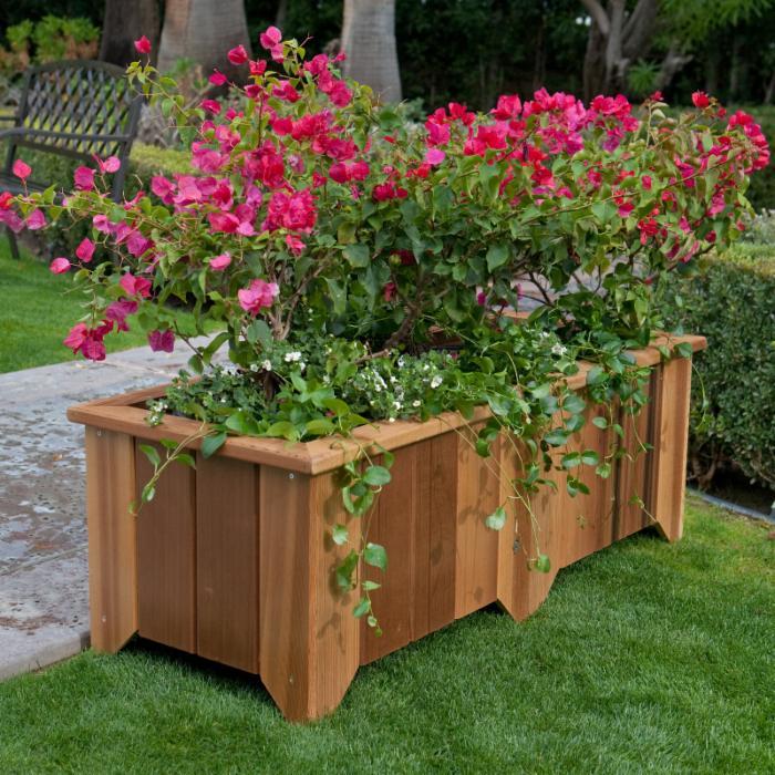 Rectangular Cedar Planter