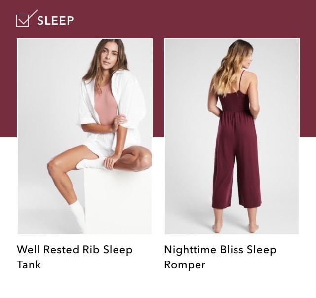 Athleta Long Weekend Checklist: Sleep