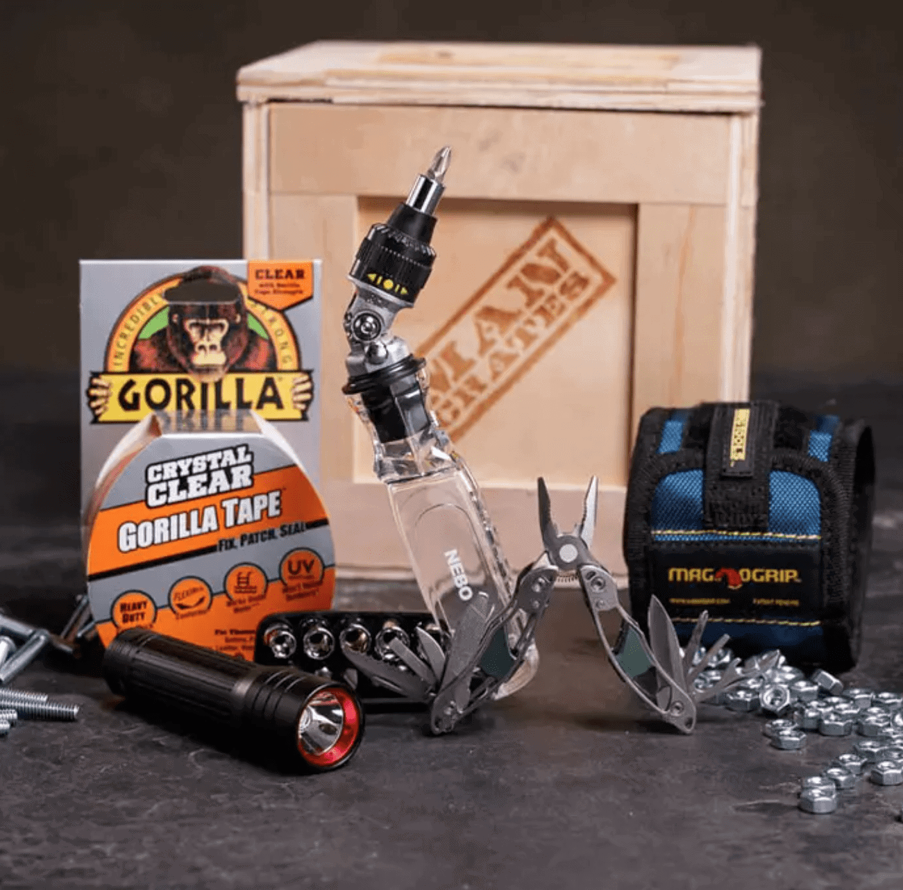 Man Crates Gifts for Dad: Mr. Fix-It Tool Crate