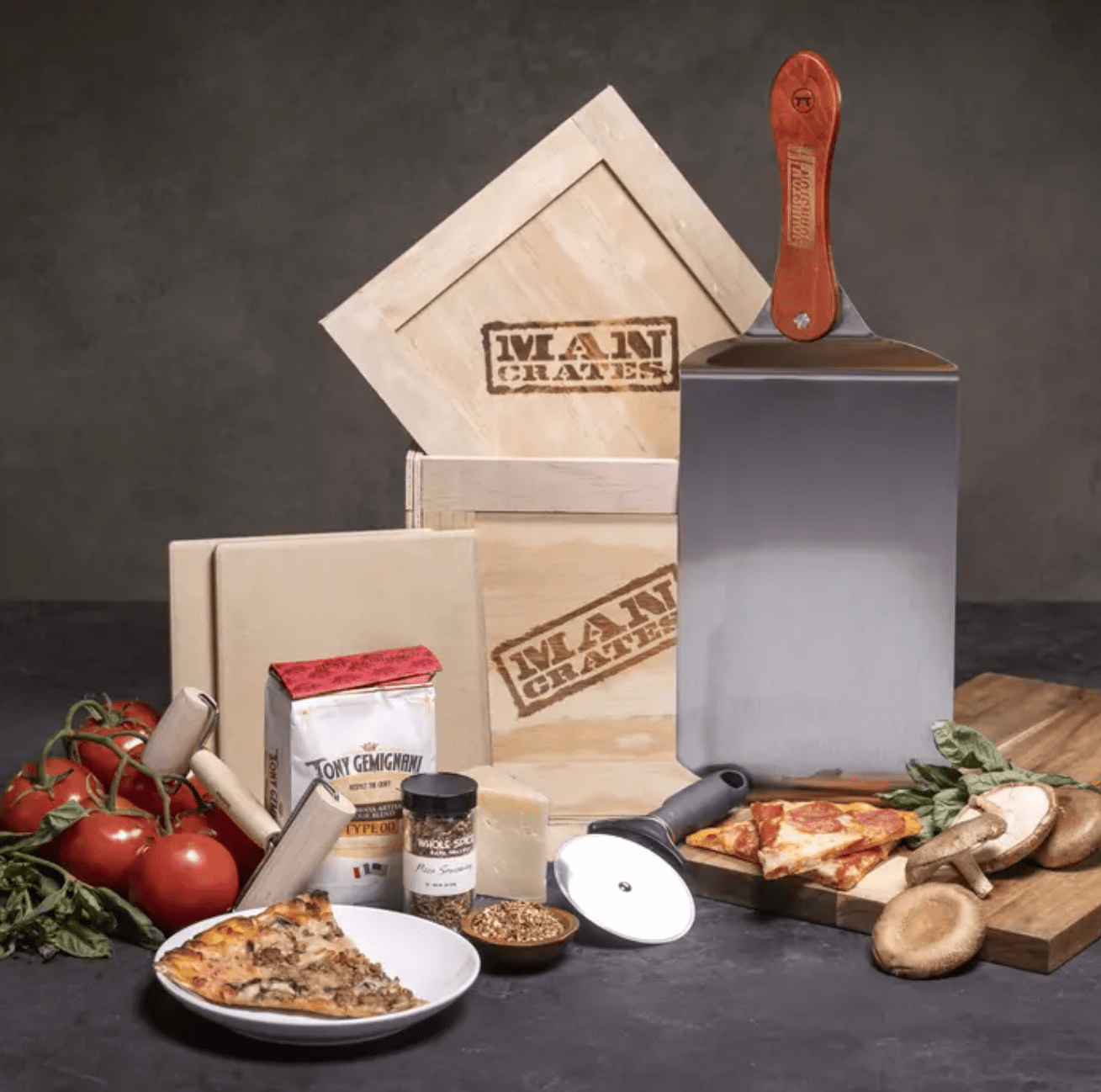 Man Crates Gifts for Dad: Personalized Pizza Grilling Crate