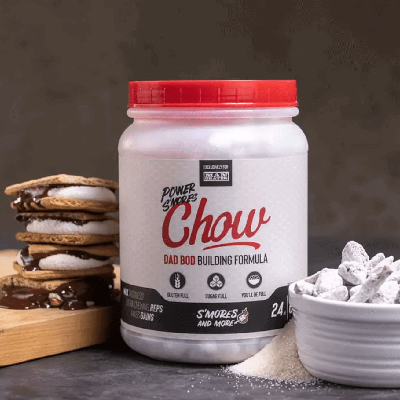 Man Crates Gifts for Dad: Power S'mores Chow