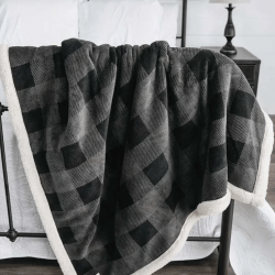 The Review Wire Father's Day Guide 2021: Grey Plaid Sherpa Throw Blanket