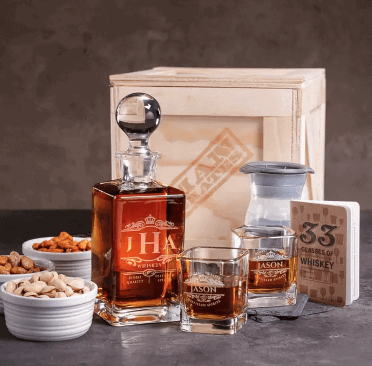 Man Crates Gifts for Dad: Whiskey Appreciation Crate