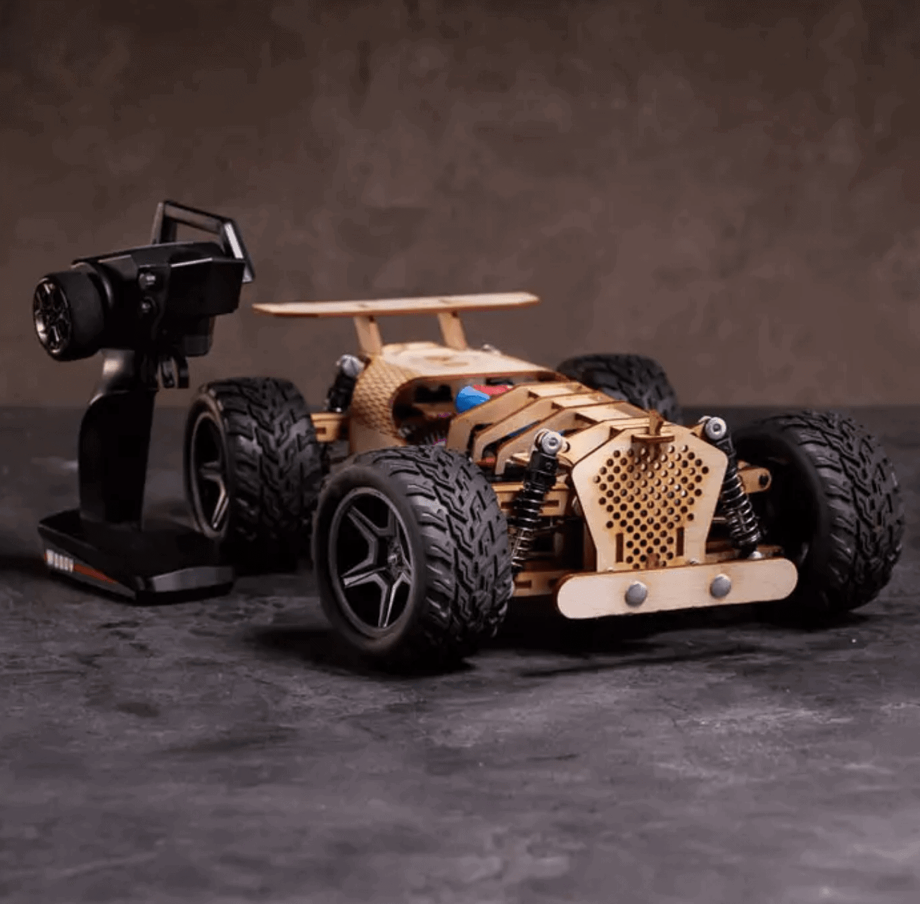 Man Crates Gifts for Dad: Wooden RC Car Kit
