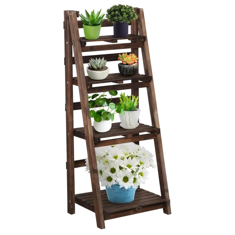 4 Tiers Wooden Flower Stand-Costoffs