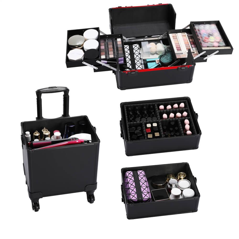 4-in-1 Aluminum Cosmetic Case-Costoffs