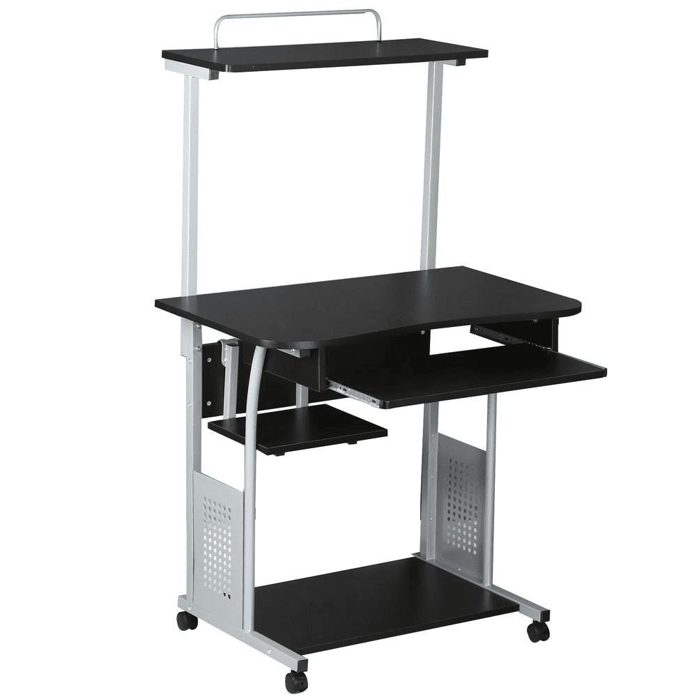 Home Office 2 Tier Computer Desk Workstation-Costoffs