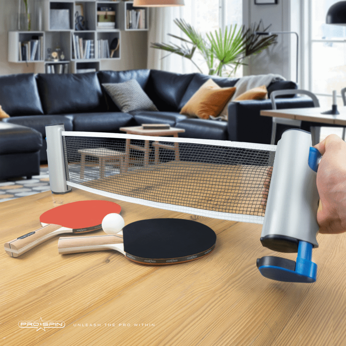 4-Player All-in-One Portable Table Tennis Set