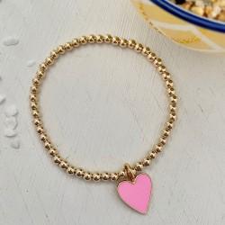 Isabelle Grace Pretty in Pink Heart Bracelet