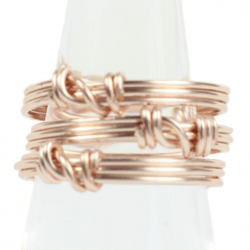Rose Gold Stackable Ring Set