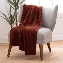 Standard Textile Home Terracotta Knit Throw