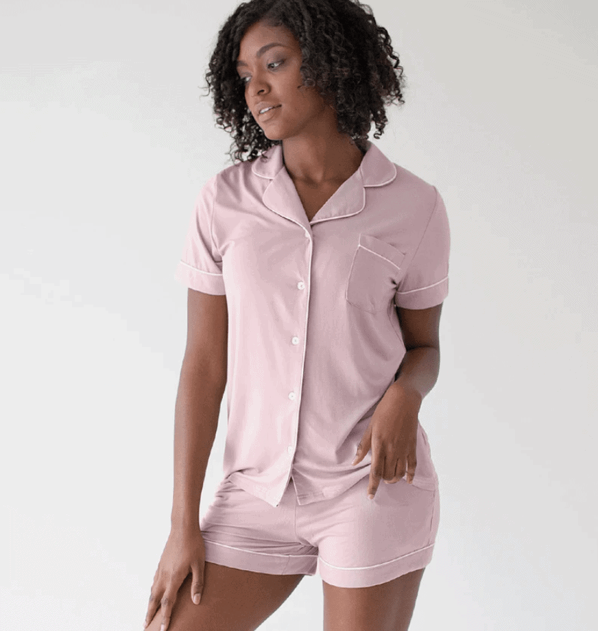 The Haisley Bamboo Classic Short Sleeve Pajama Set