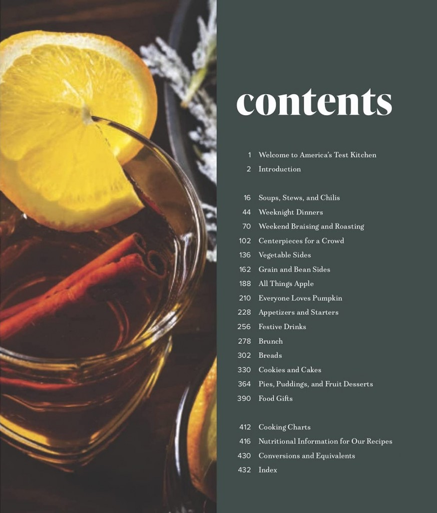 The Complete Autumn and Winter Cookbook_Contents